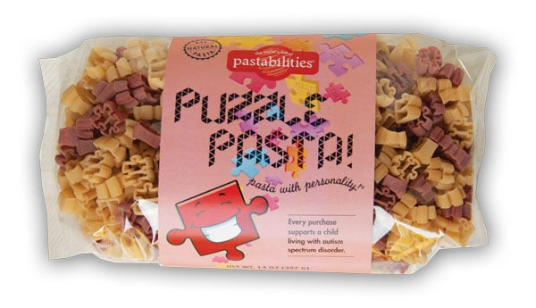 Autism Puzzle Pasta New Fundraising Products | funpastafundraising.com  A portion of the proceeds from the sales of Puzzle Pasta  supports a child living with Autism Spectrum Disorder.