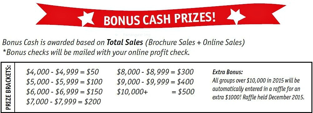 Bonus Cash Prize Program