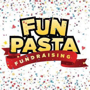 Fun Pasta Logo with Confetti