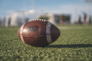 close up image of football on field